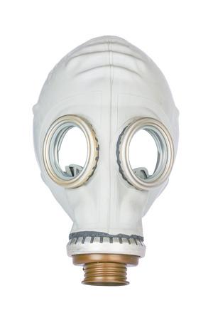 mundo contaminado: Máscara de gas retro aislado sobre fondo blanco Foto de archivo
