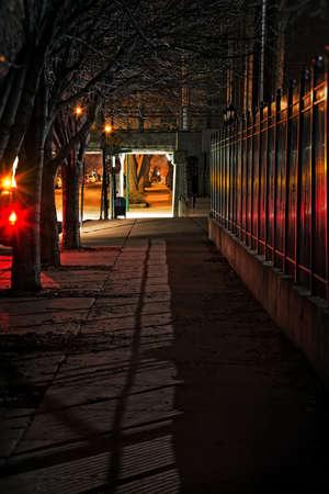Dark City Street Stock Photo