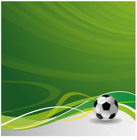 football party: soccer background Illustration