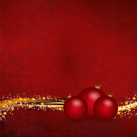 rood goud kerstballen Stock Illustratie