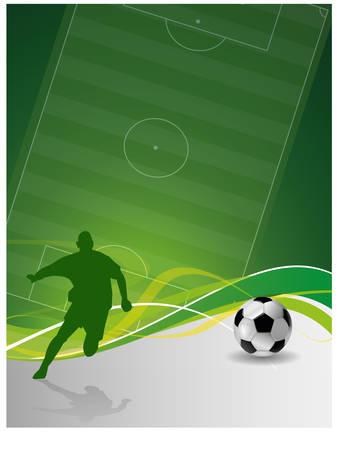 soccer field: soccer background Illustration
