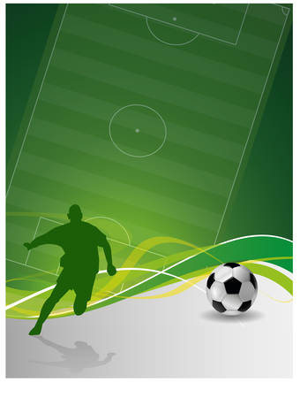soccer background Stock Illustratie