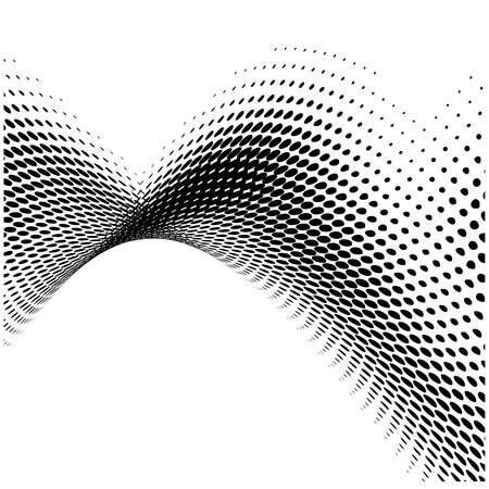 abstracte dynamische stippen Stock Illustratie