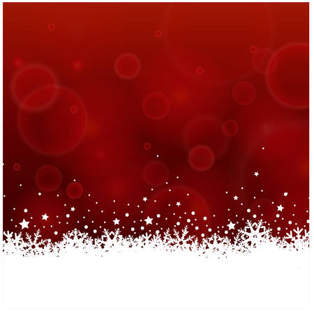 christmas snow  矢量图像