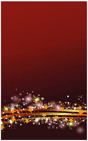 Kerstversiering in rood en gouden strepen