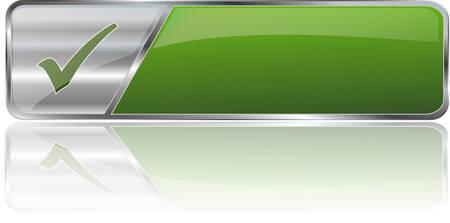 グリーン サービス ボタン  イラスト・ベクター素材