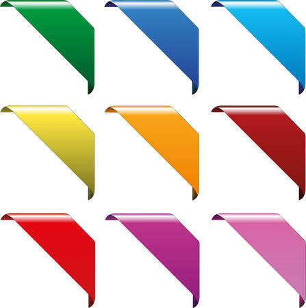 collection of vector corner signs