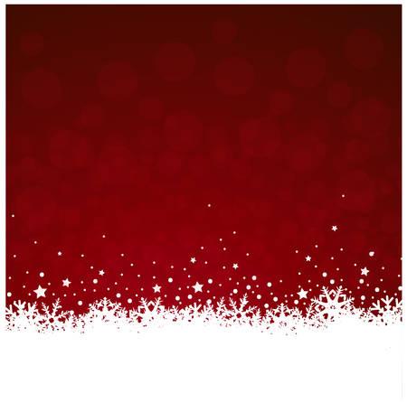 Fond rouge noël vecteur eps10 avec une décoration icecrystal Banque d'images - 31398454