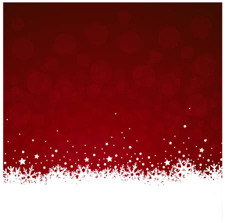 iceflower: red christmas vector eps10 background with icecrystal decoration