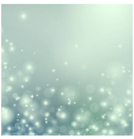 Blue Christmas background with floating particles