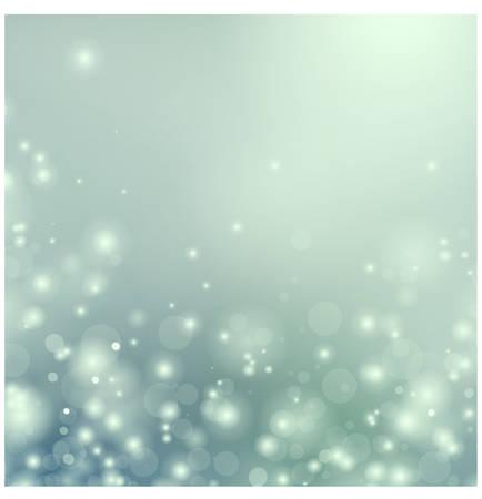 Navidad azul de fondo con partículas flotantes
