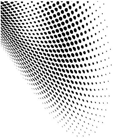 Abstract dynamic dots pattern background Vector