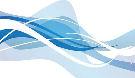Abstraits bleu vecteur waves blancs conception graphique Banque d'images - 31400660