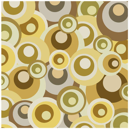 flower power: Abstract retro dots pattern background