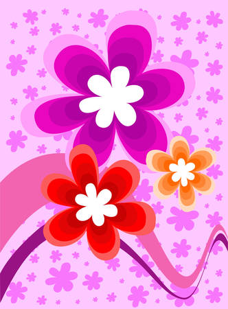 an inflorescence: Vector illustration containing floral decoration Illustration