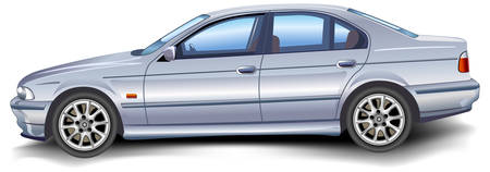 auto glass: New model of vector auto on white background, template, illustration Illustration