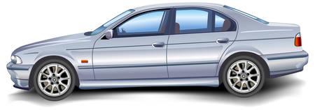 Nouveau modèle d'auto vectoriel sur fond blanc, modèle, illustration
