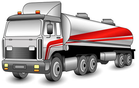 Transportation gasoline, oil of distant following, cargo illustration Vector