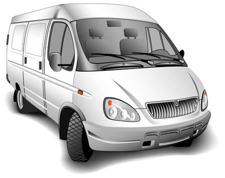 Minibus for passenger transportations on white background, vector illustration Stock Vector - 4483876