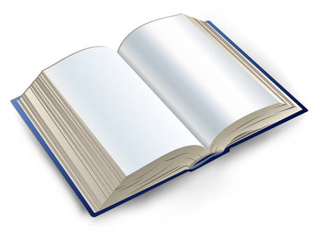 directory book: Open book with white sheets, directory, notebook for note, vector illustration Illustration