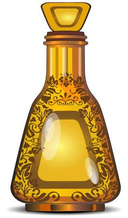 tufo: Figured botellas de vidrio decorativo de perfumer�a, ilustraci�n vectorial Vectores