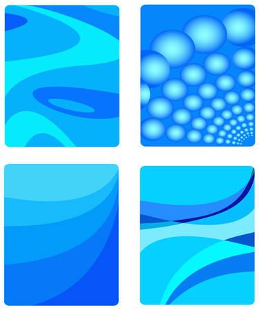 Abstract background in blue, original design, vector illustration Stock Vector - 4552394