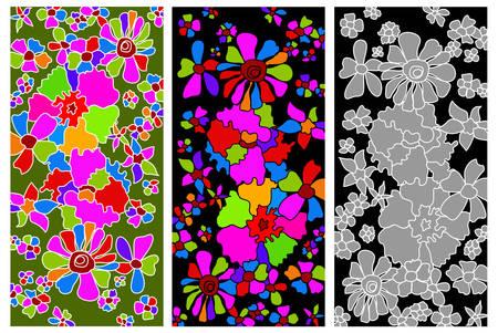 Colored floral background, element for design, vector illustration Vector