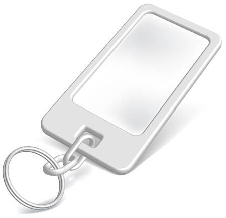 keys isolated: Vector abalorio para su inscripci�n en blanco sobre fondo blanco aisladas