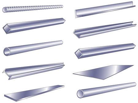 steel construction: Tubo di metallo, verga, canale, oggetto isolato su sfondo bianco