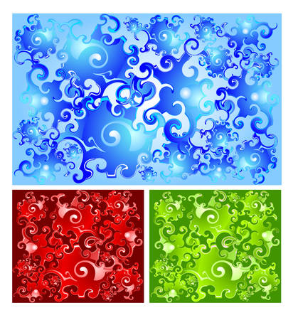 Vector illustration contains image of abstract aqua background Vector