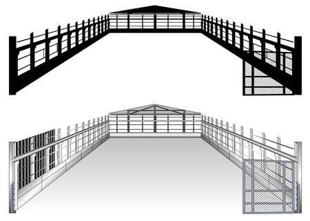 Isolated big warehouse plan on white background, vector illustration Stock Vector - 4650231