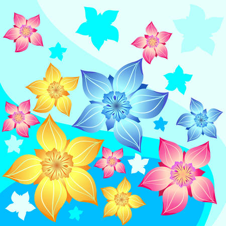 an inflorescence: Vector illustration containing floral decoration, background for card