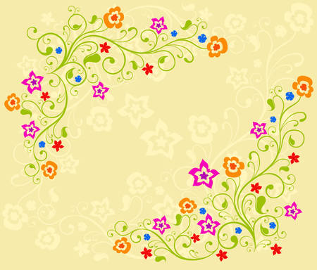 Color background with beautiful patterns for card or other design, an illustration
