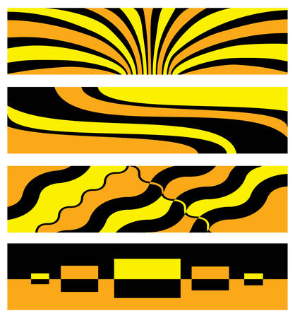 abstract background in yellow and orange color. Vector illustration Vector