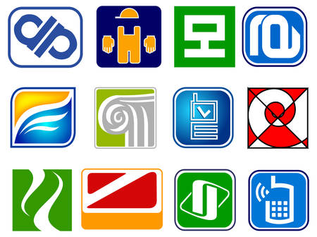 Collection of abstract icons, vector illustration, graphic elements Vector