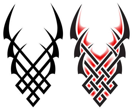 Black flames for tattoo and tribal, vector illustration on white Stock Vector - 5051703