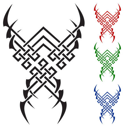 Color flames for tattoo and tribal, vector illustration on white Stock Vector - 5051702