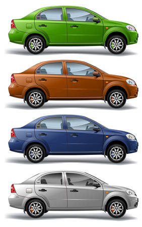 carriers: New model of vector autos on white background, vector, illustration Illustration