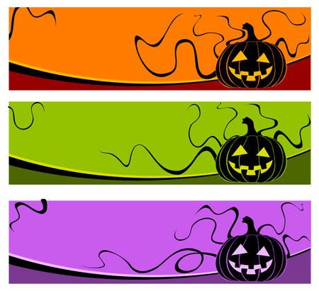 grimace: Halloween grimace pumpkin on color background, vector illustration