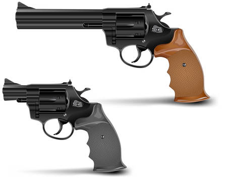 Two guns isolated on white background, vector illustration Stock Vector - 6353016