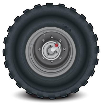 felgen: Auto-Rad in Informationen auf wei�em Hintergrund mit Schatten, Vektor, illustration Illustration