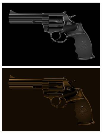 Two black guns on black background, vector illustration Stock Vector - 6353018