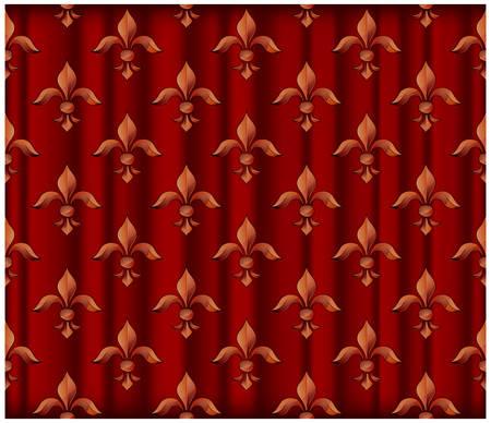 fleurdelis: Fleur red background
