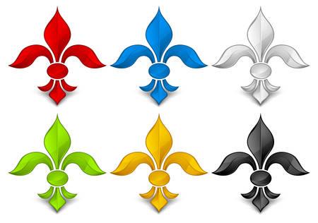 Fleur, color lily symbol