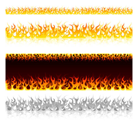 Set of hot fire design elements  Stock Vector - 6924482