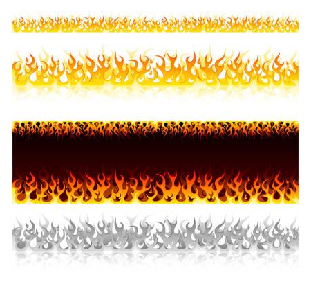 Set of hot fire design elements Stock Vector - 6924482