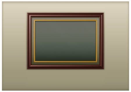 Wooden antique framework for picture on wall Stock Vector - 7057656