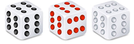 dribbling: For dices for dribbling, casino gambling Illustration