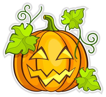grimace: Big yellow grimace pumpkin, Halloween vector illustration