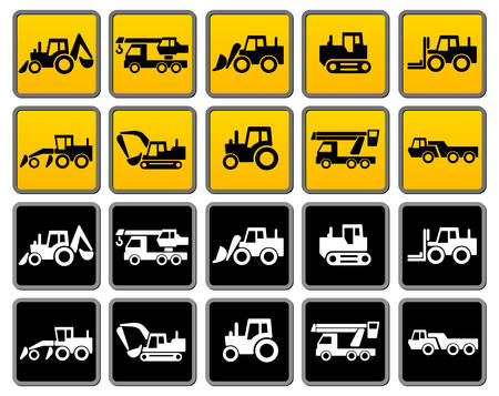 heavy: Transportation silhouettes collection, icons design element,  illustration